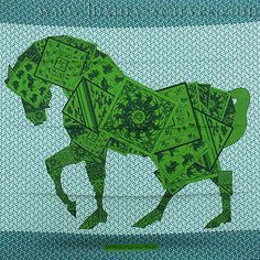 One of my favourite (and more unusual) Hermes scarf designs