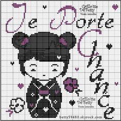 chance - luck -  point de croix - cross stitch - Blog : http://broderiemimie44.canalblog.com/