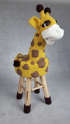 Handmade. Chair for children giraffe. Krzesło żyrafa dla dzieci.