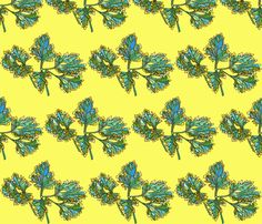 parsley in yellow fabric by aprilmariemai on Spoonflower - custom fabric