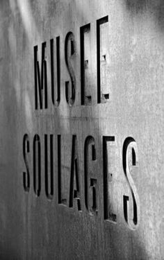 Musée Soulages by RCR Arquitectes with Passelac & Roques Arquitectes in Rodez, France, 2014 Hotel Signage, Wayfinding Signage, Signage Design, Shop Signage, Environmental Graphic Design, Environmental Graphics, Accor Hotel, Branding And Packaging, Name Boards