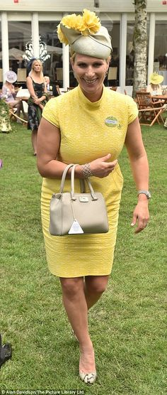 Both Princess Beatrice and Zara Tindall opted for bright colour, with Beatrice in a Nereida Fraiman hat and Zara in Rosie Olivia Princess Haya, Princess Beatrice, Royal Princess, Yellow Fashion, Royal Fashion, English Royal Family, Zara Phillips, Wedding Guest Style, Royals