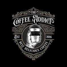 Vector Logo Design, Vintage Logo Design, Vintage Typography, Lettering Design, Vintage Logos, Food Logo Design, Logo Café, Cafe Logo, Logo Type