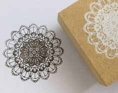 Korean wooden wood square Vintage Lace Stamp Rubber Stamp Set stamp up stampin up - deco stamp