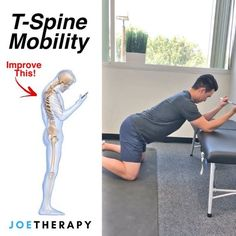 One of My FAVORITE T-Spine Mobs! - First give this a try Stand up Raise your hands overhead Lean as far back as you can Fitness Workouts, Fitness Motivation, Yoga Fitness, Health Fitness, Scoliosis Exercises, Posture Exercises, Spine Health, Massage Therapy, Physical Therapy