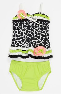 Isobella & Chloe 'Safari Print' Two Piece Swimsuit (Infant) available at #Nordstrom