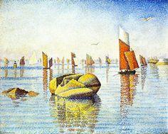 "Paul Signac (1863-1935)  ~ ""Matin calme, Concarneau"" ~ huile sur Toile 1891"