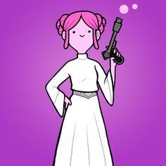 Princess Bubblegum as Princess Leia