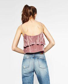 Image 4 of VELVET STRAPPY TOP from Zara