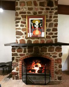 Fire..... check, glass of red...... check, cosy couch..... check, great art..... check, here at Peter Lehmann Wines
