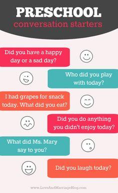 6 Quick Preschool Conversation Starters.