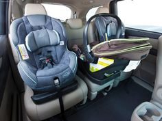 Three carseats in one row!! Oh I wish this wasn't a minivan. I might really want it. Honda odyssey