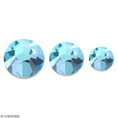 Compra nuestros productos a precios mini Strass piedras para pegar - 3 tamaños - Azul turquesa - 150 uds aproximadamente - Entrega rápida, gratuita a partir de 89 € !