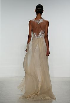 Brides.com: 25 New Wedding Dresses with Statement Backs. Wedding dress by Amsale  See more wedding dresses from Amsale's Spring 2015 collection.