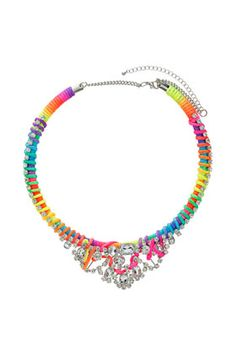 Rhinestone Thread Necklace from Topshop $55