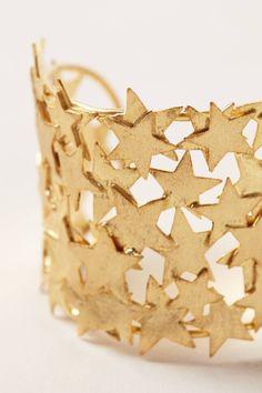 Starlit Brass Cuff - anthropologie