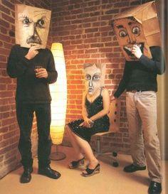 paper bag masks, a great way to do family or classroom portraits, :) High School Art, Middle School Art, Mascarilla Diy, Costume Carnaval, 8th Grade Art, Inspiration Art, Maquillage Halloween, Masks Art, Arts Ed