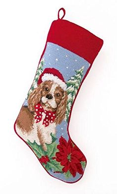 Cocker Spaniel Dog Wool Needlepoint Christmas Stocking 11 x 18 Inch -- Be sure to check out this awesome product.