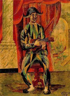 Pablo Picasso, Harlequin with guitar 1918