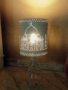 Lámpara 'Taj Mahal' #reciclaje #latas #decoracion