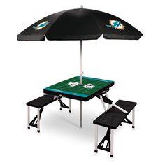 Miami Dolphins Picnic Table With Umbrella