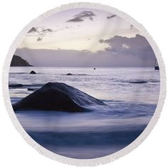 Tropics Round Beach Towel featuring the photograph Into The Dusk II by Kristina Abramovic