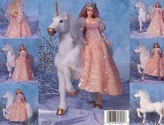 1495 Fairytale Renaissance Princess for Barbie Paradise #80 Crochet PATTERN NEW