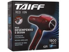 Secador de Cabelo 1900W 2 Velocidades - Taiff Red Íon com as melhores condições você encontra no Magazine Siarra. Confira!
