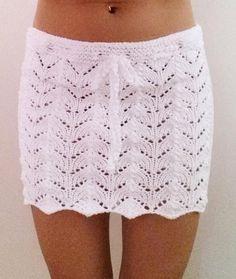 Knit mini skirt cover up pattern