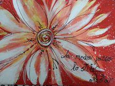 Acrilico su tela. Astratto fiori. Dimensioni 40×30.Pezzo unico.
