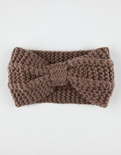 Knotted Sweater Knit Headwrap -Mocha