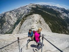The Half Dome trail through Yosemite may be one of the most intense hikes you'll ever take, stretchi... - Getty