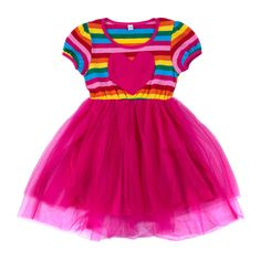 Baby Girl/Girl's Delightful Rainbow Sleeveless Dress, 35% discount @ PatPat Mom Baby Shopping App