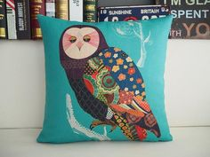 Hey, I found this really awesome Etsy listing at https://www.etsy.com/listing/210345937/boho-owl-decorative-pillow-cushion-cover
