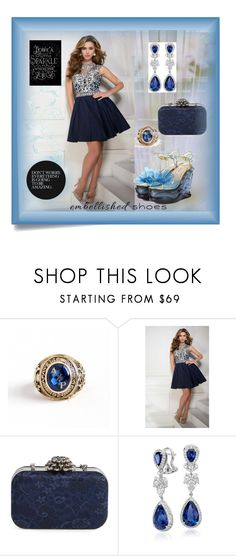 """Embellished Shoes: Magic Slippers"" by jndskiddo ❤ liked on Polyvore featuring Post-It, Tony Bowls, Glint, Blue Nile, Miu Miu, Love Quotes Scarves and embellishedshoes"