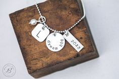 Graduation Necklace  Class of 2013  Sterling by betsyfarmerdesigns