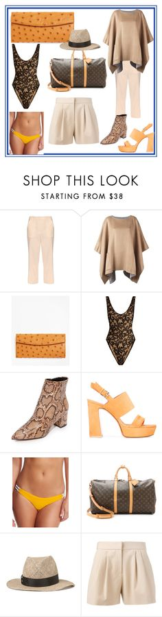 """""""set for amazing"""" by denisee-denisee ❤ liked on Polyvore featuring The Row, MICHAEL Michael Kors, Brooks Brothers, Norma Kamali, Steven, Santoni, Basta, House of Lafayette, Boutique Moschino and vintage"""