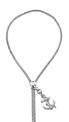 Mateo Bijoux Anchor Zip Necklace