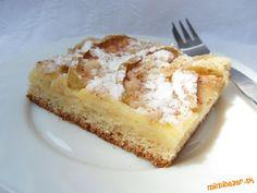 Linecký koláč s jablkami a pudingom | Mimibazar.sk French Toast, Pie, Breakfast, Desserts, Bulgur, Torte, Morning Coffee, Tailgate Desserts, Cake