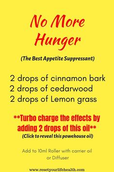 More Hunger: Essential Oil Blend Essential Oil Diffuser Blends, Essential Oil Uses, Doterra Essential Oils, Young Living Essential Oils, Stuffy Nose Essential Oils, Benefits Of Frankincense Oil, Aromatherapy Oils, Weight Loss, Lose Weight