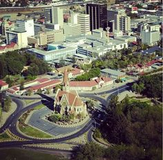 Windhoek, Namibia The Christ Church also known as the Church of Peace situated in the historic center of Windhoek.
