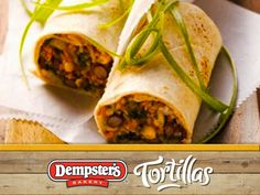 Corn and Bean wrapped into one amazing and delicious burrito! @Debbie Dempster's® Bakery #WrapItUp