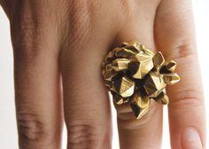 Bronze Pineapple Mineral Massacre Ring