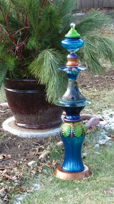 The Peacock hand-painted glass garden totem by Second Glass Garden Art. The Peacock hand-painted glass garden totem by Second Glass Garden Art. The post The Peacock hand-painted glass garden totem by Second Glass Garden Art. appeared first on Garden Easy.