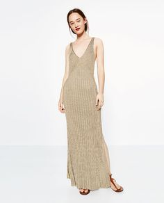 Image 1 of LIMITED EDITION GOLD-TONED DRESS from Zara