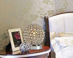 Crystal Silver Ball Table Lamp Bulb Included - - Amazon.com Decor, Table, Lamp, Furniture, House, Bulb, Home Decor, Touch Lamp
