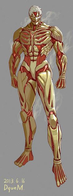 Armored titan by DqueM-7.deviantart.com - That is actually really cool.