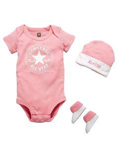 Converse Baby Girl 3-piece Gift Set  21bdefe79
