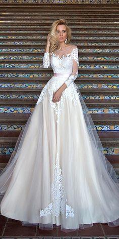 Oksana Mukha Wedding Dresses 2017 ❤ See more: http://www.weddingforward.com/oksana-mukha-wedding-dresses/ #wedding #dresses #2017