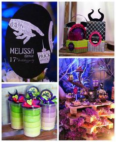 Maleficent Themed 17th Birthday Party via Kara's Party Ideas KarasPartyIdeas.com The Place for All Things Party! #maleficent #maleficentparty #sleepingbeauty #maleficentpartyideas (1)